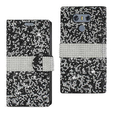 Load image into Gallery viewer, Reiko Lg G6 Diamond Rhinestone Wallet Case In Black