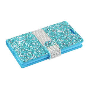 Reiko Lg G6 Diamond Rhinestone Wallet Case In Blue