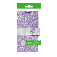 Load image into Gallery viewer, Reiko Lg X Power- K6 Diamond Rhinestone Wallet Case In Purple