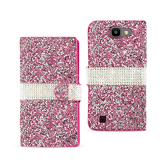 Reiko Lg Spree Jewelry Rhinestone Wallet Case In Pink
