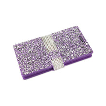 Load image into Gallery viewer, Reiko Lg Spree Jewelry Rhinestone Wallet Case In Purple