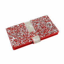 Load image into Gallery viewer, Reiko Lg V10 Jewelry Rhinestone Wallet Case In Red