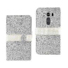 Load image into Gallery viewer, Reiko Lg V10 Jewelry Rhinestone Wallet Case In Silver