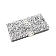 Load image into Gallery viewer, Reiko Samsung Galaxy S7 Edge Jewelry Rhinestone Wallet Case In Silver