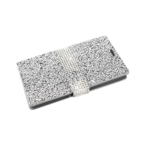 Reiko Samsung Galaxy S7 Edge Jewelry Rhinestone Wallet Case In Silver