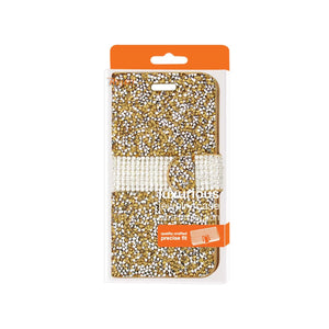 Reiko Samsung Galaxy Grand Prime Jewelry Rhinestone Wallet Case In Gold