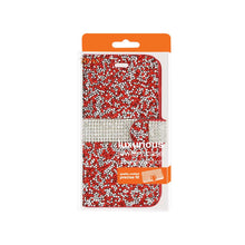 Load image into Gallery viewer, Reiko Samsung Galaxy Grand Prime Jewelry Rhinestone Wallet Case In Red