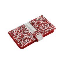 Load image into Gallery viewer, Reiko Samsung Galaxy J7 Jewelry Rhinestone Wallet Case In Red