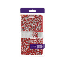 Load image into Gallery viewer, Reiko Samsung Galaxy On5- J5 Diamond Rhinestone Wallet Case In Red