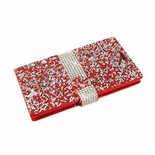 Load image into Gallery viewer, Reiko Samsung Galaxy S6 Jewelry Rhinestone Wallet Case In Red