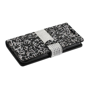 Reiko Samsung Galaxy S8- Sm Diamond Rhinestone Wallet Case In Black