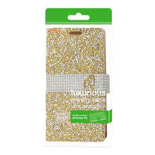 Load image into Gallery viewer, Reiko Grand X 4 Diamond Rhinestone Wallet Case In Gold