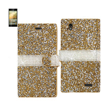 Load image into Gallery viewer, Reiko Zte Warp Elite Jewelry Rhinestone Wallet Case In Gold