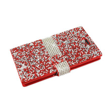 Load image into Gallery viewer, Reiko Zte Warp Elite Jewelry Rhinestone Wallet Case In Red