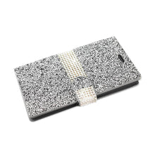 Load image into Gallery viewer, Reiko Zte Zmax 2 Jewelry Rhinestone Wallet Case In Silver
