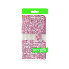 Load image into Gallery viewer, Reiko Zte Grand X Max 2 Jewelry Rhinestone Wallet Case In Pink