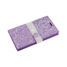 Load image into Gallery viewer, Reiko Zte Grand X Max 2 Jewelry Rhinestone Wallet Case In Purple