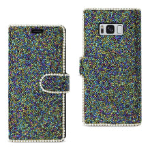 Load image into Gallery viewer, Reiko Samsung Galaxy S8- Sm Bead Diamond Wallet Case In Black