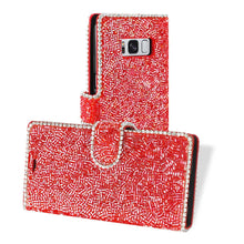 Load image into Gallery viewer, Reiko Samsung Galaxy S8- Sm Bead Diamond Wallet Case In Red