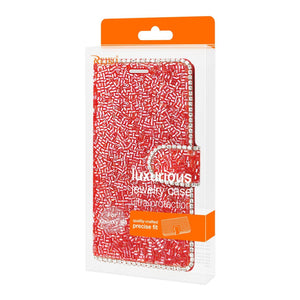 Reiko Samsung Galaxy S8- Sm Bead Diamond Wallet Case In Red