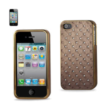 Load image into Gallery viewer, Reiko Iphone 4g Jewelry Diamond Studs Case In Beige