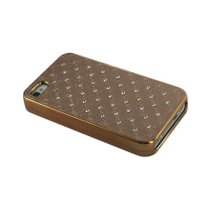 Reiko Iphone 4g Jewelry Diamond Studs Case In Beige