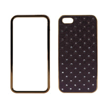 Load image into Gallery viewer, Reiko Iphone 5-5s-se Jewelry Diamond Studs Case In Dark Purple