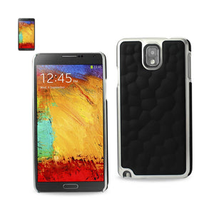 Reiko Samsung Galaxy Note 3 Bubble Metal Plated Case In Black