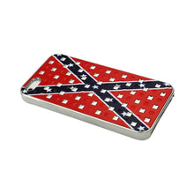 Load image into Gallery viewer, Reiko Iphone Se- 5s- 5studded Plating Rivets Confederate Flag Design Case In Red