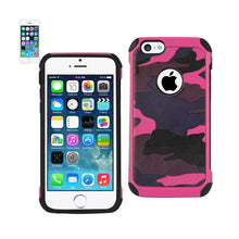 Load image into Gallery viewer, Reiko Iphone 5c Hybrid Leather Camouflage Case In Pink