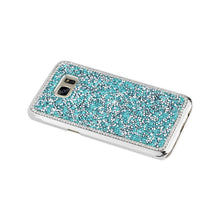Load image into Gallery viewer, Reiko Samsung Galaxy S7 Edge Jewelry Bling Rhinestone Case In Blue