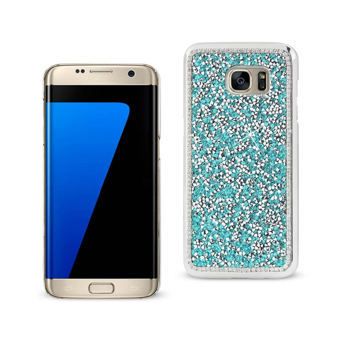 Reiko Samsung Galaxy S7 Edge Jewelry Bling Rhinestone Case In Blue