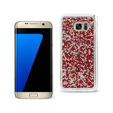 Load image into Gallery viewer, Reiko Samsung Galaxy S7 Edge Jewelry Bling Rhinestone Case In Red