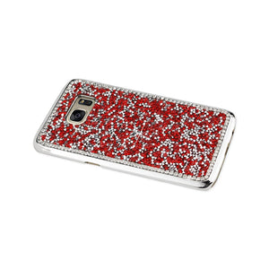 Reiko Samsung Galaxy S7 Edge Jewelry Bling Rhinestone Case In Red