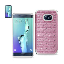 Load image into Gallery viewer, Reiko Samsung Galaxy S6 Edge Plus Hybrid Heavy Duty Jewelry Diamond Case In White Pink