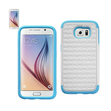 Load image into Gallery viewer, Reiko Samsung Galaxy S6 Hybrid Heavy Duty Jewelry Diamond Case In Blue White