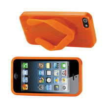 Load image into Gallery viewer, Reiko Iphone Se- 5s- 5 Silicone Slipper Sandal Case In Orange