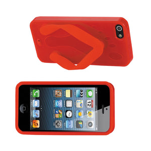 Reiko Iphone Se- 5s- 5 Silicone Slipper Sandal Case In Red