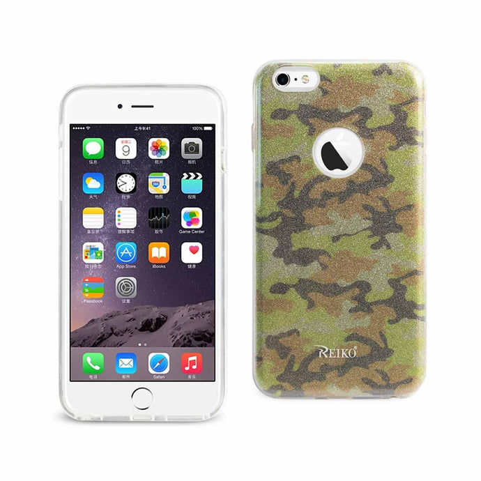 Reiko Iphone 6 Plus- 6s Plus Shine Glitter Shimmer Camouflage Hybrid Case In Camouflage Yellow