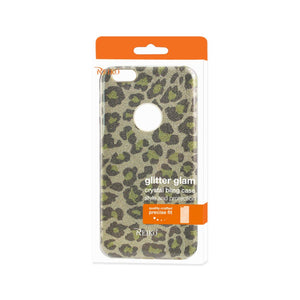 Reiko Iphone 6 Plus- 6s Plus Shine Glitter Shimmer Hybrid Case In Leopard Gold