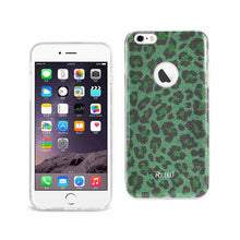 Load image into Gallery viewer, Reiko Iphone 6 Plus- 6s Plus Shine Glitter Shimmer Hybrid Case In Leopard Green