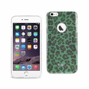 Reiko Iphone 6 Plus- 6s Plus Shine Glitter Shimmer Hybrid Case In Leopard Green