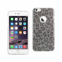 Load image into Gallery viewer, Reiko Iphone 6 Plus- 6s Plus Shine Glitter Shimmer Leopard Hybrid Case In Silver