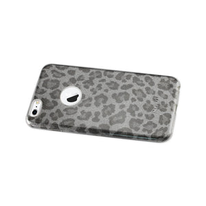 Reiko Iphone 6 Plus- 6s Plus Shine Glitter Shimmer Leopard Hybrid Case In Silver
