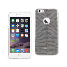 Load image into Gallery viewer, Reiko Iphone 6 Plus- 6s Plus Shine Glitter Shimmer Tiger Stripe Hybrid Case In Gray