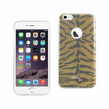 Load image into Gallery viewer, Reiko Iphone 6 Plus- 6s Plus Shine Glitter Shimmer Tiger Stripe Hybrid Case In Yellow