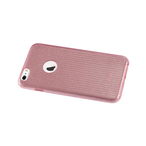 Reiko Iphone 6 Plus- 6s Plus Shine Glitter Shimmer Stripe Hybrid Case In Linear Pink