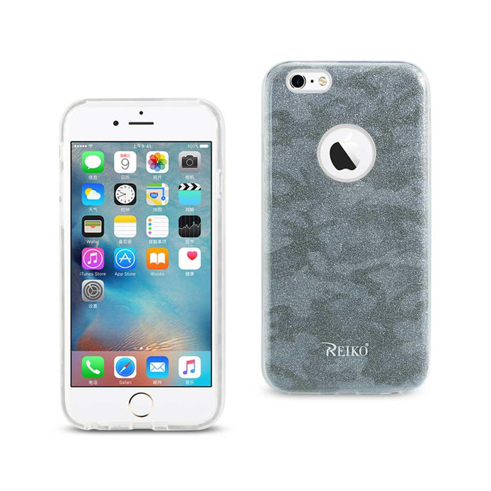 Reiko Iphone 6- 6s Shine Glitter Shimmer Camouflage Hybrid Case In Blue