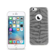Load image into Gallery viewer, Reiko Iphone 6- 6s Shine Glitter Shimmer Tiger Stripe Hybrid Case In Gray