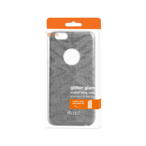 Reiko Iphone 6- 6s Shine Glitter Shimmer Tiger Stripe Hybrid Case In Gray